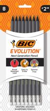 #2 Pencils 8 Pack-Bic Evolution Next Gen Pencils