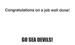 Congratulations Sea Devils Card