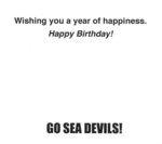 Happy Birthday Sea Devils Card