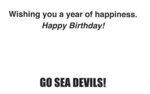 Happy Birthday Sea Devils Card #2