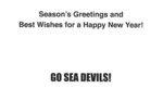 Happy Holidays Sea Devil Card