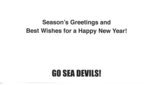 Season's Greetings Sea Devils Card