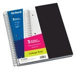 3 Subject 150 Sheet College Ruled Notebook w/ 3 poly pockets