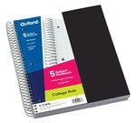 5 Subject 200 Sheet College Ruled Notebook w/ 5 poly pockets
