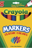 Markers Crayola Classic 8 Pack Broad Tip